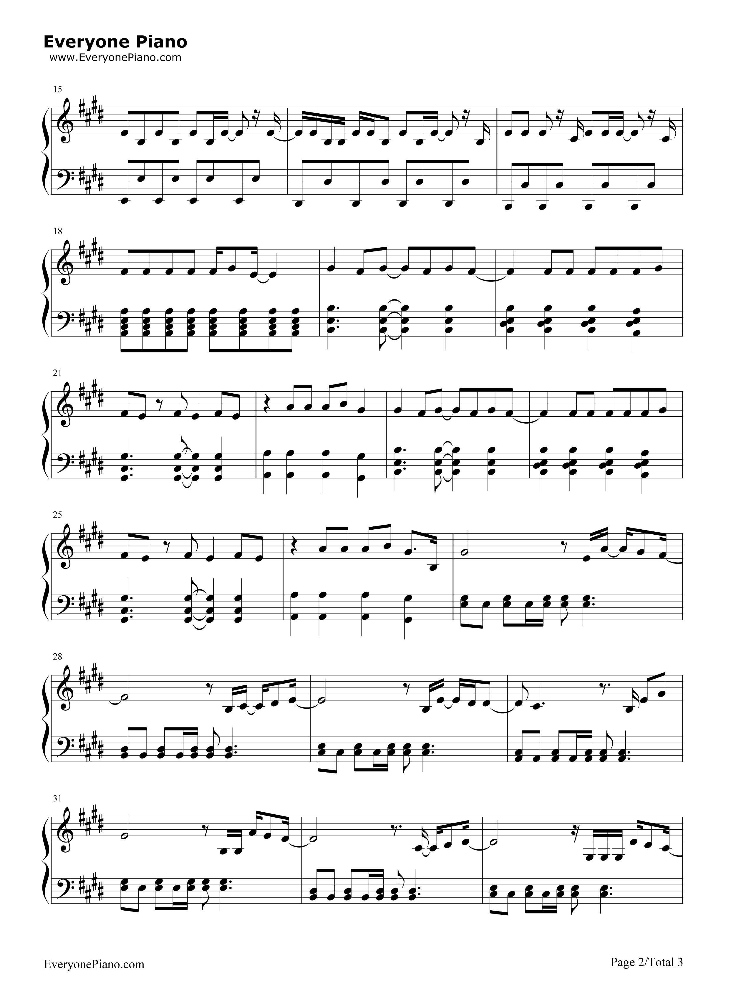 wish you were here avril lavigne stave preview 2 free piano sheet