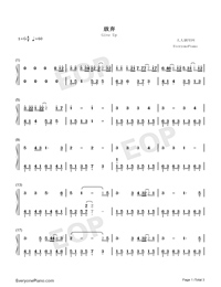 Give Up-Numbered-Musical-Notation-Preview-1