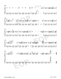 Give Up-Numbered-Musical-Notation-Preview-3