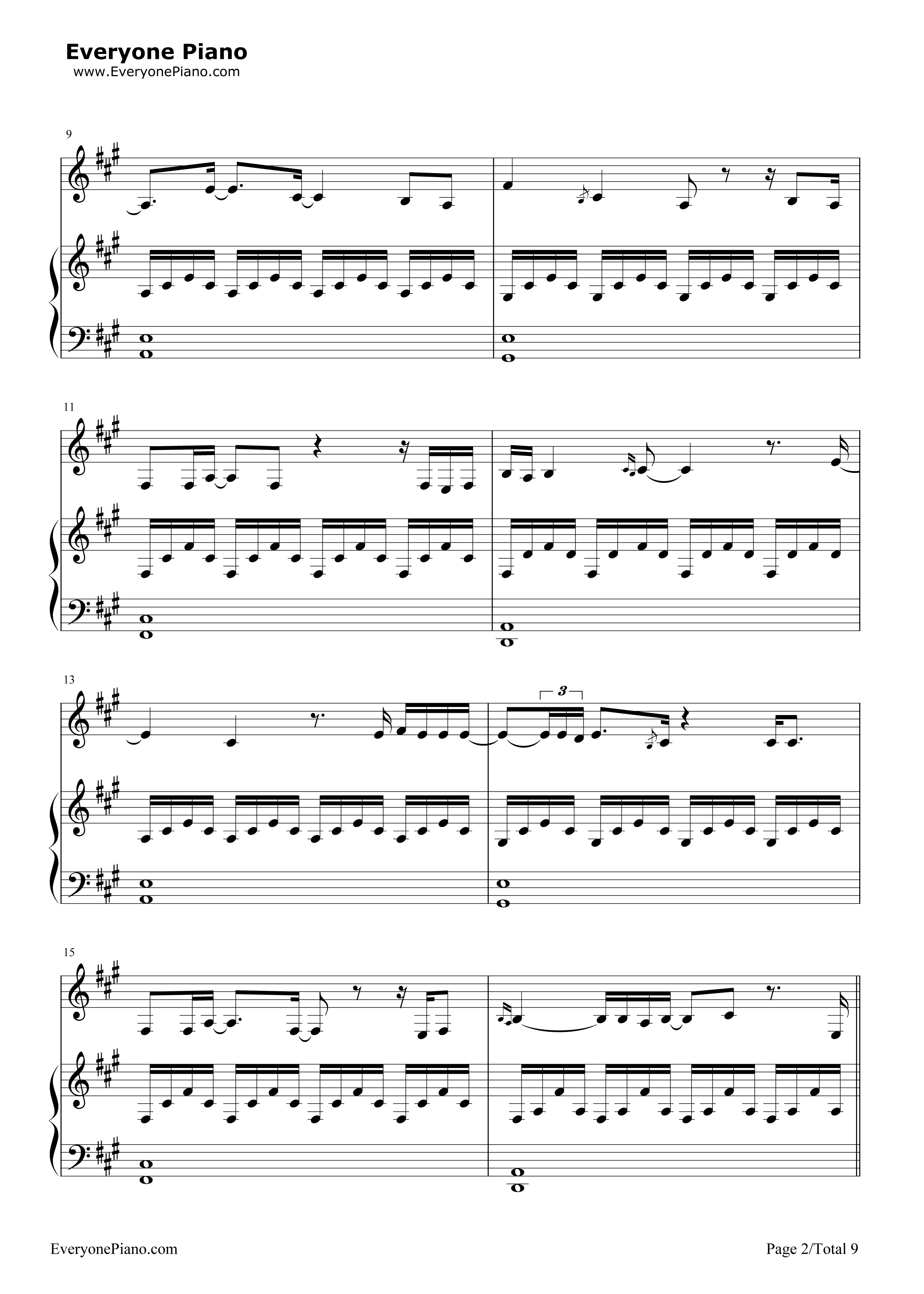 ... Version-Adele Stave Preview 2-Free Piano Sheet Music & Piano Chords