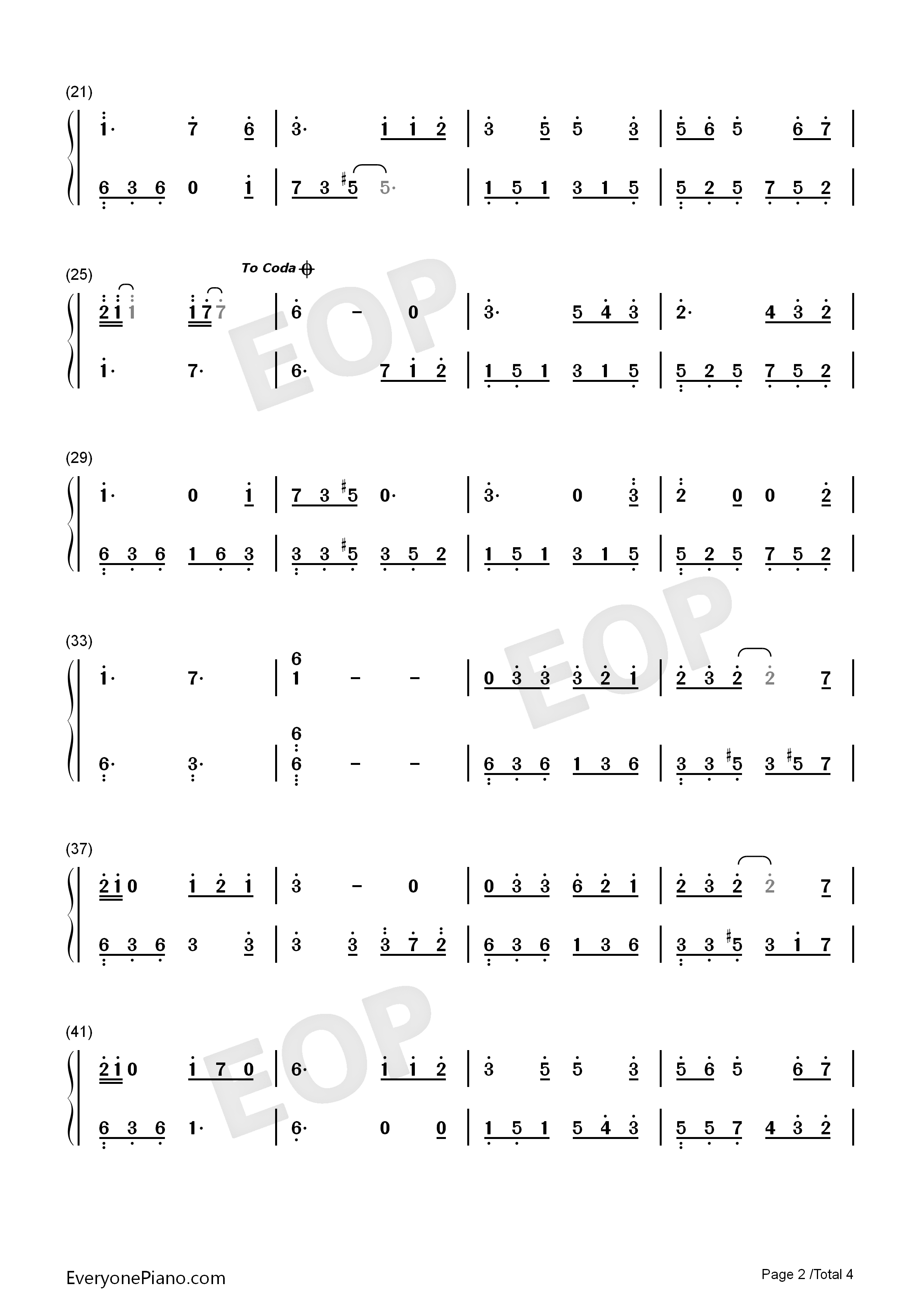 Lolita Numbered Musical Notation Preview 2