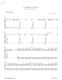 Romeo and Cinderella-Numbered-Musical-Notation-Preview-1