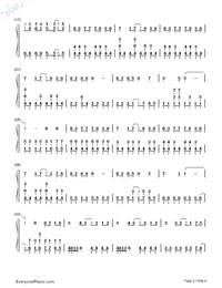 Romeo and Cinderella-Numbered-Musical-Notation-Preview-2