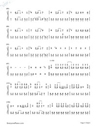 Romeo and Cinderella-Numbered-Musical-Notation-Preview-5