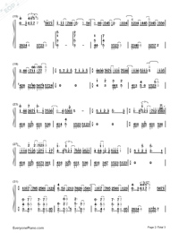 Yozora no Mukō-Beyond the Night Sky Numbered Musical Notation Preview 2