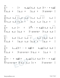 Melody Of The Night 15-Numbered-Musical-Notation-Preview-2