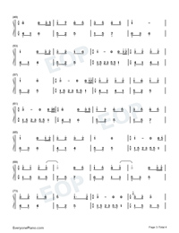 Melody Of The Night 15-Numbered-Musical-Notation-Preview-3
