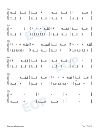 Melody Of The Night 15-Numbered-Musical-Notation-Preview-4