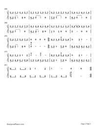 太陽の下に静かな猫-空の軌跡the 3rd OST両手略譜プレビュー2