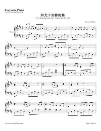 太陽の下に静かな猫-空の軌跡the 3rd OST五線譜プレビュー1