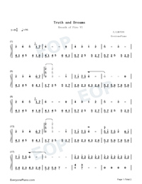 Truth and Dreams - Theme of Breath of Fire VI-Numbered-Musical-Notation-Preview-1