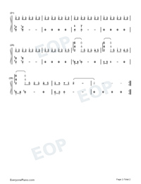 Truth and Dreams - Theme of Breath of Fire VI-Numbered-Musical-Notation-Preview-2