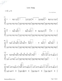 Love Song-Big Bang-Numbered-Musical-Notation-Preview-1