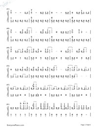 Love Song-Big Bang-Numbered-Musical-Notation-Preview-3