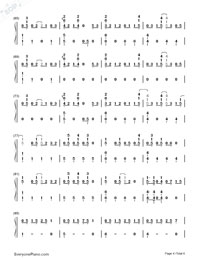 Love Song-Big Bang-Numbered-Musical-Notation-Preview-4