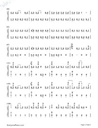 Love Song-Big Bang-Numbered-Musical-Notation-Preview-5
