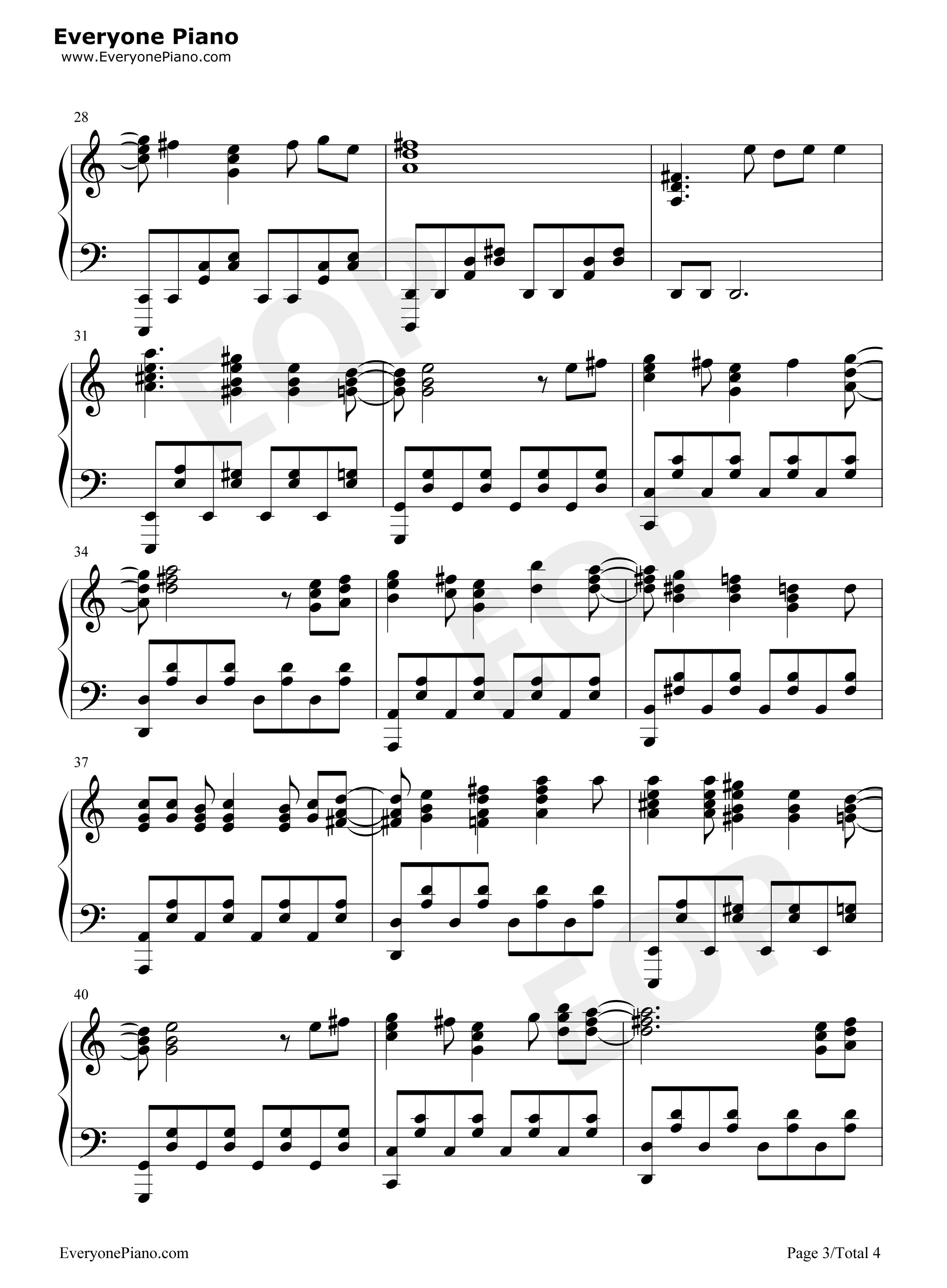Dark Shame-Code:Breaker OP Stave Preview 3-Free Piano Sheet Music u0026 Piano Chords