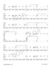 Annie's Song - Bandari-Numbered-Musical-Notation-Preview-2