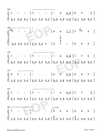 Annie's Song - Bandari-Numbered-Musical-Notation-Preview-3