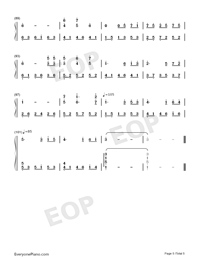 Annie's Song - Bandari-Numbered-Musical-Notation-Preview-5
