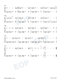 Smile of a Flower-Melody Of The Night 8-Numbered-Musical-Notation-Preview-4