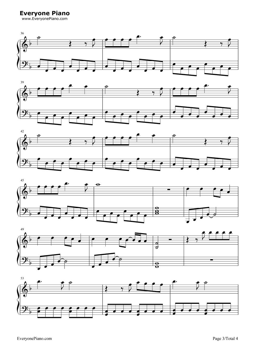 Wrecking Ball Piano Sheet Music