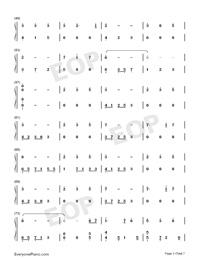 錦鯉抄鋼琴版雙手簡譜預覽3