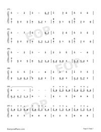 錦鯉抄鋼琴版雙手簡譜預覽4