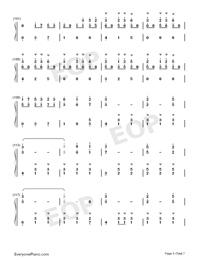 錦鯉抄鋼琴版雙手簡譜預覽5