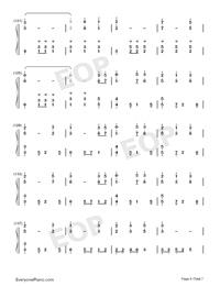 錦鯉抄鋼琴版雙手簡譜預覽6