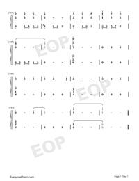 錦鯉抄鋼琴版雙手簡譜預覽7