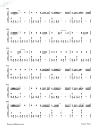 Let Her Go-Passenger-Numbered-Musical-Notation-Preview-3