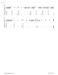 Let Her Go-Passenger Numbered Musical Notation Preview 4