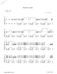 Royals-Lorde-Numbered-Musical-Notation-Preview-1
