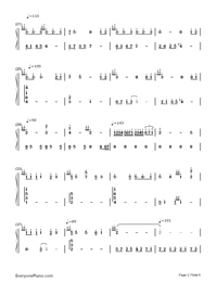 Part of Your World-The Little Mermaid OST-Numbered-Musical-Notation-Preview-2