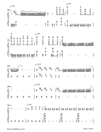 Part of Your World-The Little Mermaid OST-Numbered-Musical-Notation-Preview-5