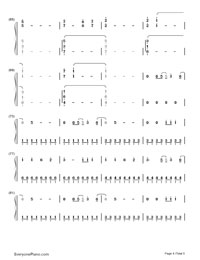 We Can't Stop- Miley Cyrus-Numbered-Musical-Notation-Preview-4