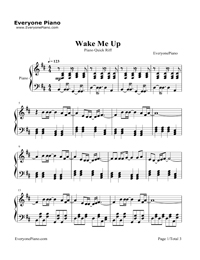 Wake Me Up-Avicii- Free Piano Sheet Music & Piano Chords