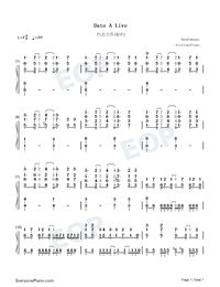 Date A Live-Date A Live OP2-Numbered-Musical-Notation-Preview-1