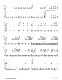 Les Feuilles Mortes (Autumn Leaves)-Richard Clayderman-Numbered-Musical-Notation-Preview-2