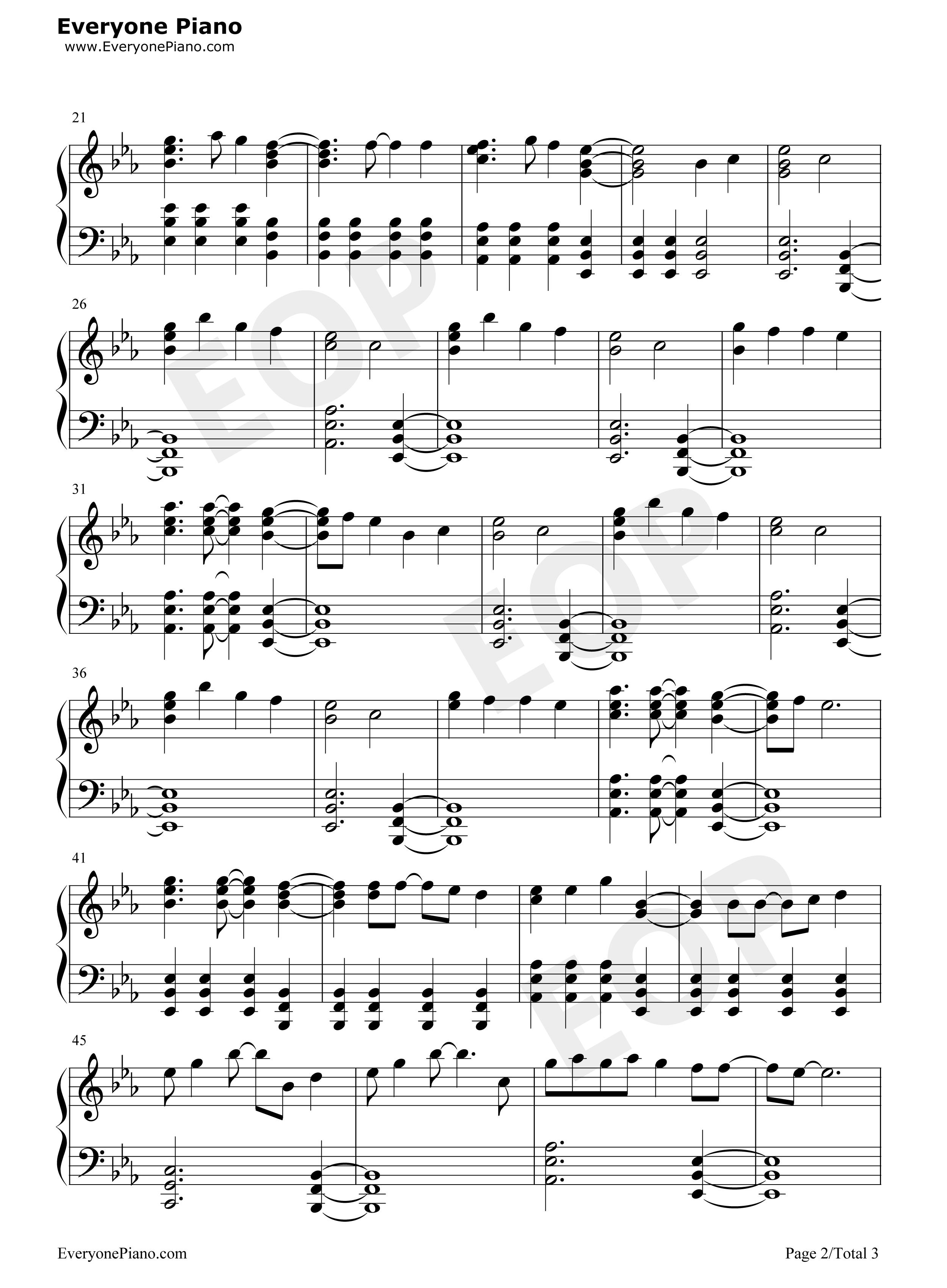 Popular Song- Mika u0026 Ariana Grande Stave Preview 2-Free Piano Sheet Music u0026 Piano Chords