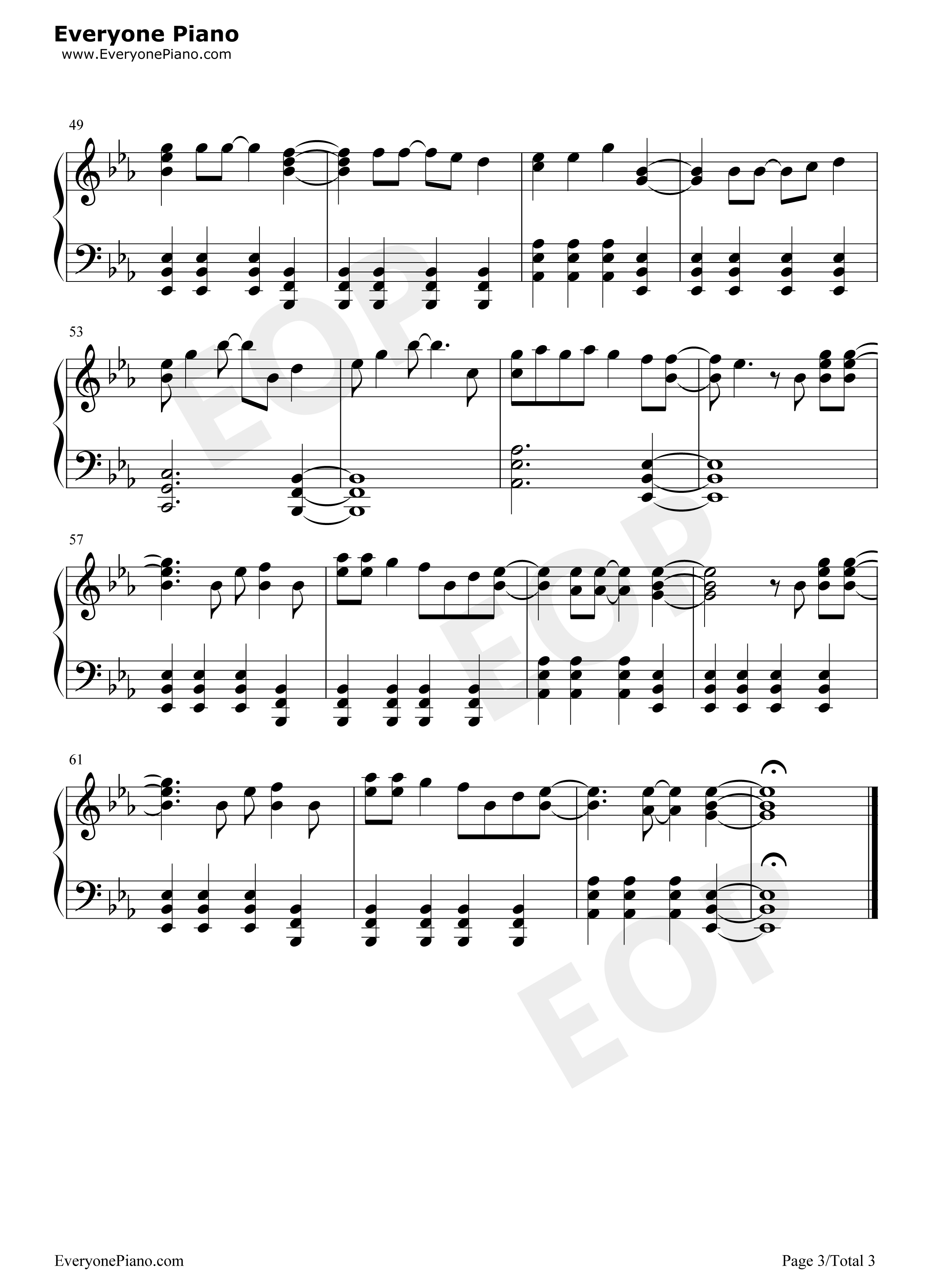 Popular Song- Mika u0026 Ariana Grande Stave Preview 3-Free Piano Sheet Music u0026 Piano Chords