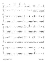 Counting Stars-OneRepublic-Numbered-Musical-Notation-Preview-3