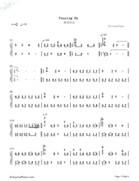 Passing By-Yiruma-Numbered-Musical-Notation-Preview-1