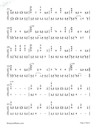 Passing By-Yiruma-Numbered-Musical-Notation-Preview-2