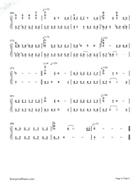 Passing By-Yiruma Numbered Musical Notation Preview 4