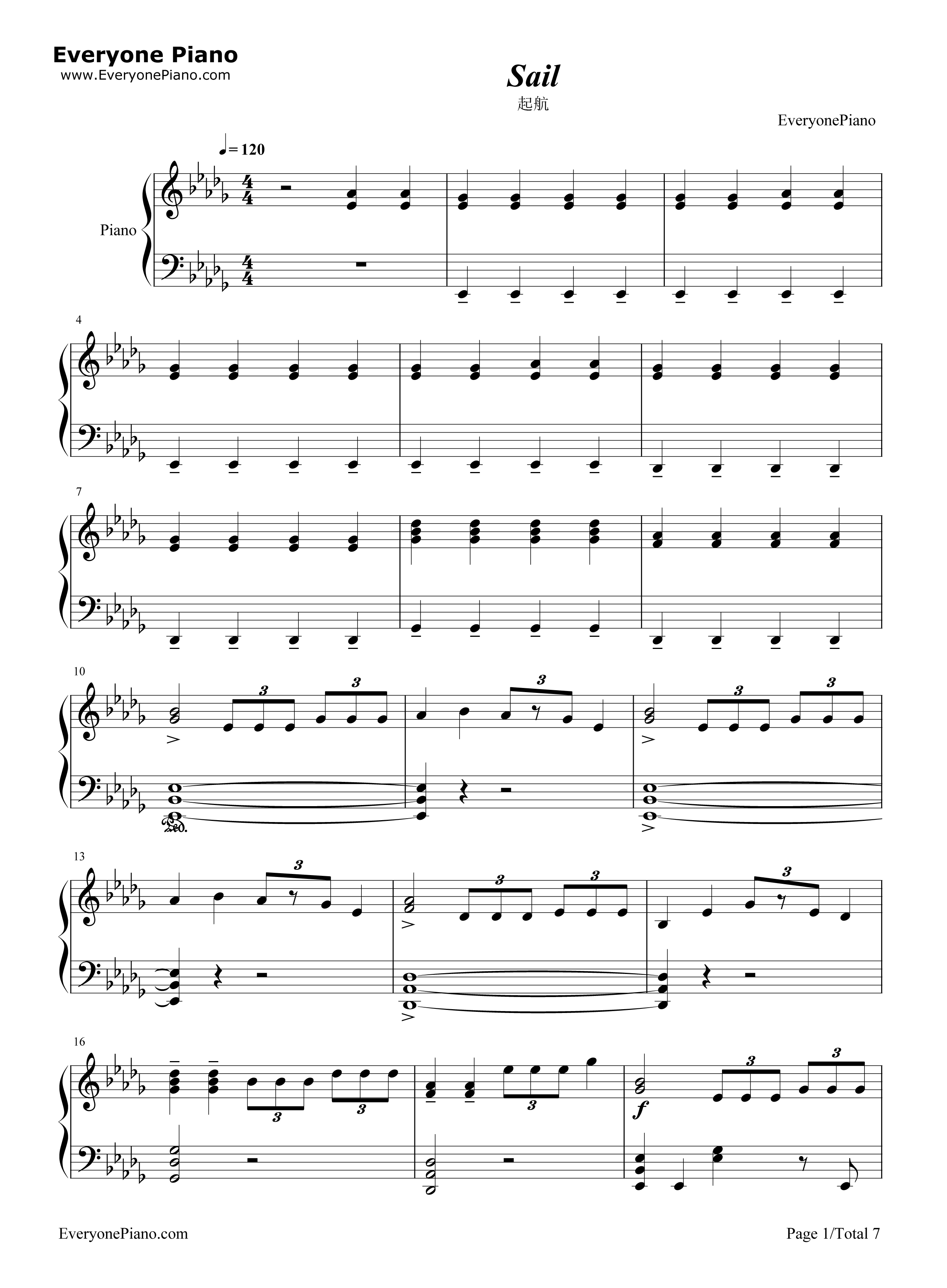 Sail awolnation stave preview 1 free piano sheet music piano chords listen now print sheet sail awolnation stave preview 1 hexwebz Gallery