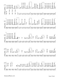 Demons-Imagine Dragons-Numbered-Musical-Notation-Preview-2