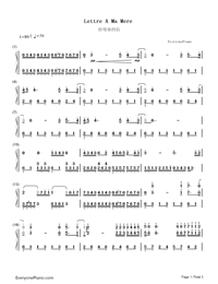 Lettre A Ma Mère-Richard Clayderman-Numbered-Musical-Notation-Preview-1