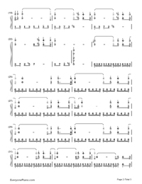 Lettre A Ma Mère-Richard Clayderman-Numbered-Musical-Notation-Preview-2